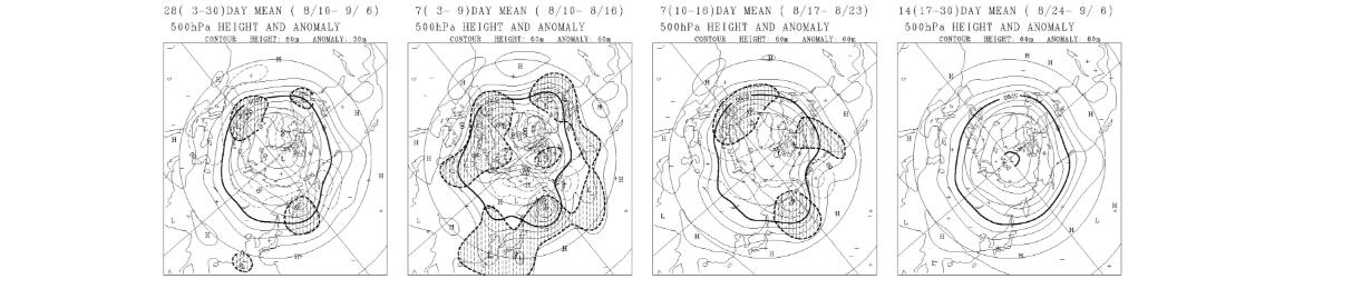 1ヶ月予報天気図例