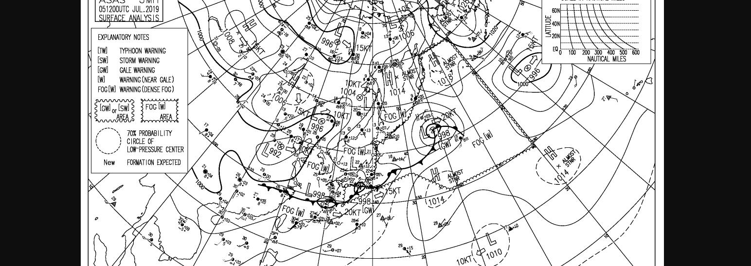 地上天気図