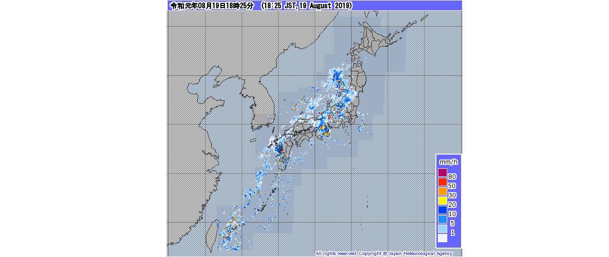 適当な雨雲レーダー2