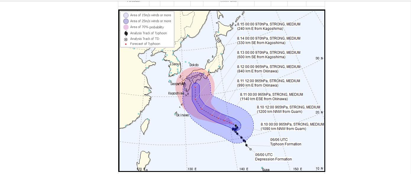JMA台風進路予想