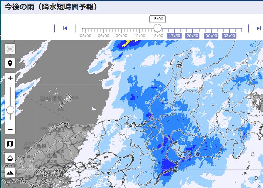 気象庁の今後の雨