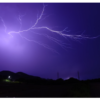 夜の落雷イメージ写真