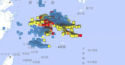 過去の雷データ検索の例