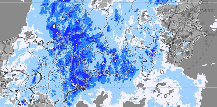 雨雲の動き(気象庁)