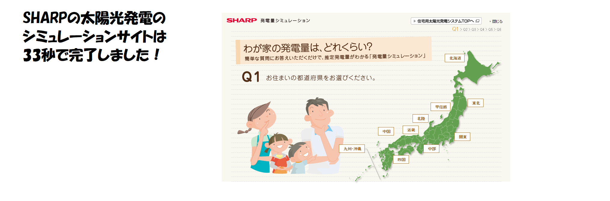 SHARPのシミュレーションサイト